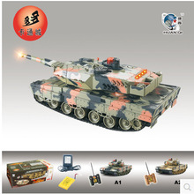 HUAN QI 516 10 tank 1 24 Scale German Leopard A6 Infrared Fighting RC Battle Tank