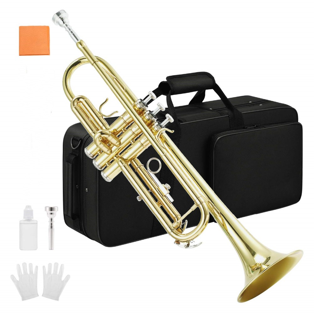 Professional Trumpet Import Brass Gold Trumpet Digital Mechanical Welding Pipe Music Adopts Brass Musical Instruments