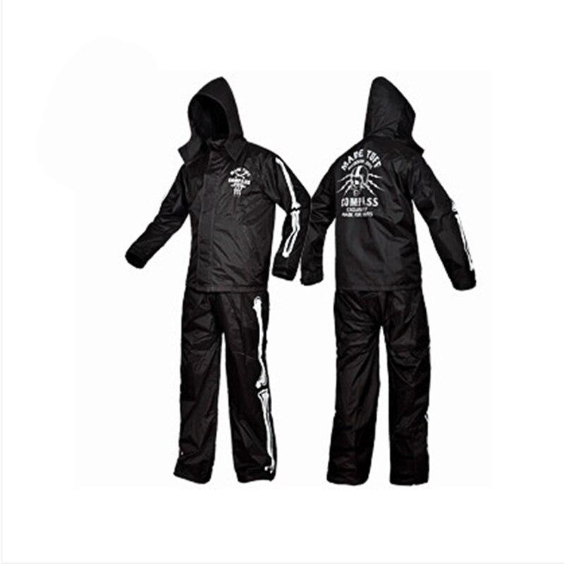 New Fashion Skull rainwear Outdoor Sports Fishing Man Woman Waterproof Raincoat Suit Motorcycle rain jacket poncho