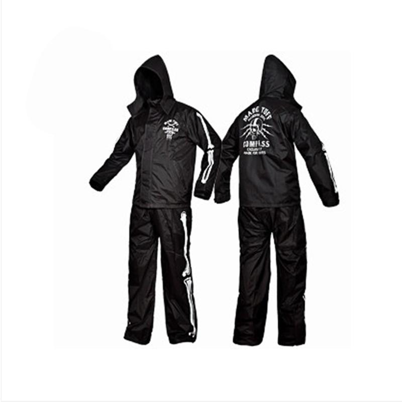 Nowa moda czaszka odzież przeciwdeszczowa odkryty wędkarstwo sportowe mężczyzna i kobieta wodoodporny płaszcz przeciwdeszczowy garnitur kurtka motocyklowe deszcz poncho duży rozmiar w Płaszcze przeciwdeszczowe od Dom i ogród na  Grupa 1