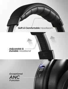 Image 5 - Mpow H17 aktif gürültü kulaklıklar 30H çalma süresi kablosuz ANC kulaklık 10 dakika şarj 2 saat oynatma Hi Fi Stereo yumuşak Earpads