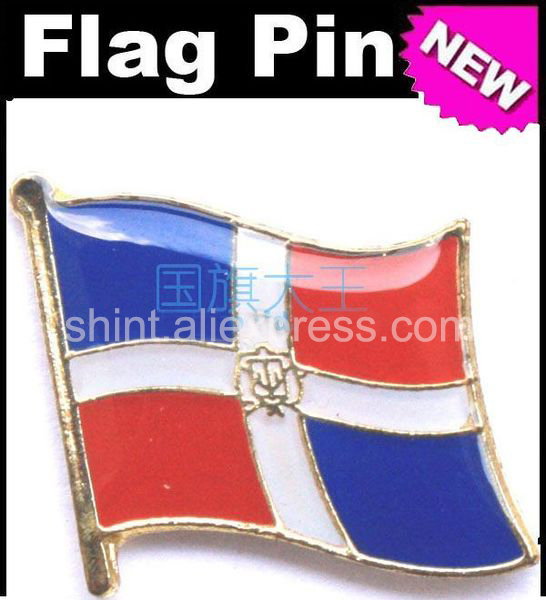 Delightful Lapel Pins Dominican Republic Flag Pins All Over The World Badge Emblem  Country State Pins