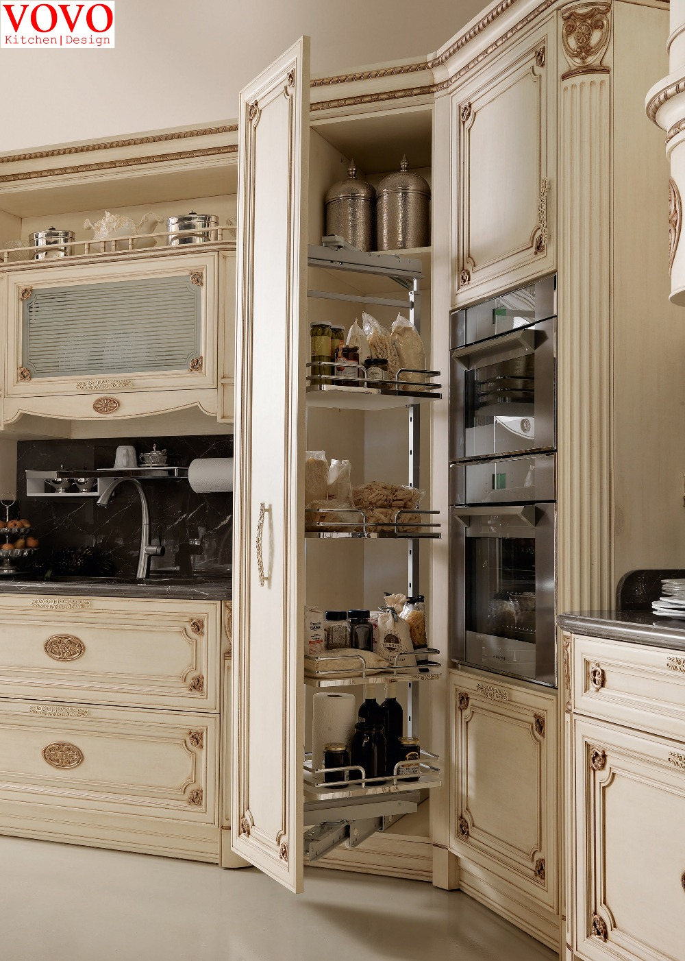 White Solid Wood Pantry And Kitchenin Kitchen Cabinets From Home  Improvement On Aliexpresscom  Alibaba Group Cabinet R90