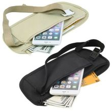купить New Travel Waist Pouch for Passport Money Belt Bag Hidden Security Wallet Black Khaki дешево