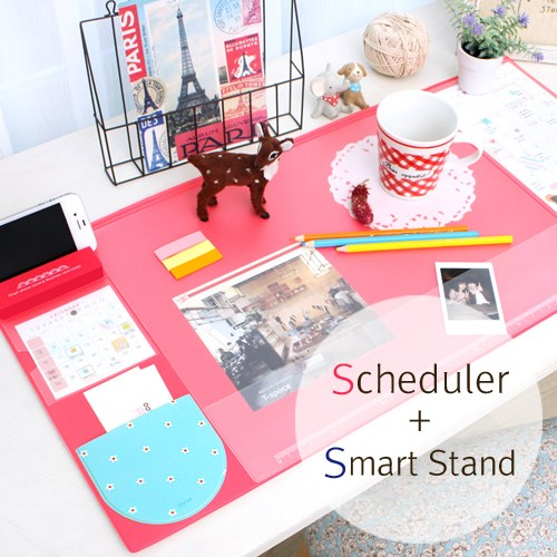Kawaii Cute Candy Color Rubber Office Mat Multifunctional Weekly Plan Organizer Large Desk Table Storage Memo Mat Learning Pad cute cat pen holders multifunctional storage wooden cosmetic storage box memo box penholder gift office organizer school supplie