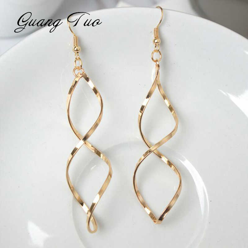 ES186 European Trendy Jewelry Minimalist Design Sense Earrings Spiral Wave Curve Earrings For Women Gift Earring Fashion Jewelry