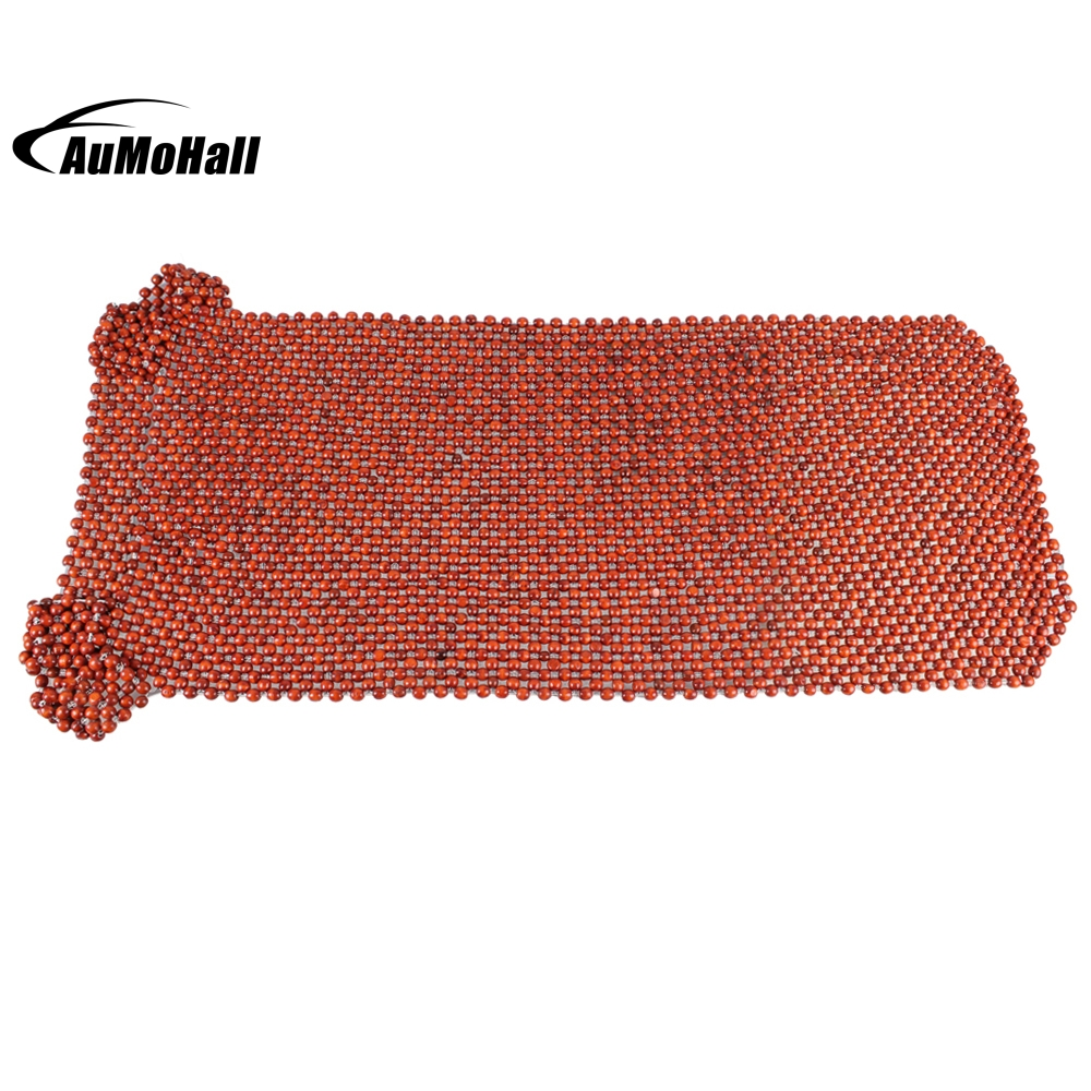 Front Seat African Rosewood Bead Seat Car Seat eco-friendly Cushion Auto Car Home Chair Cover Beaded Seats Covers Massages luxury car seat cushion hand woven ice silk with wood beads car seat cover summer front