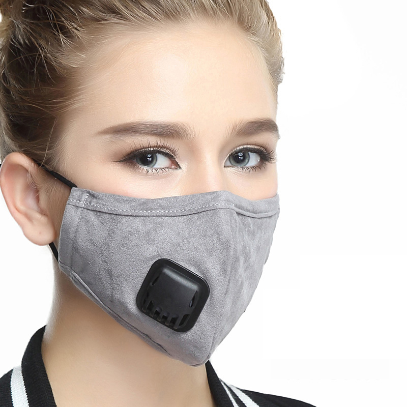 Outdoor Dust-proof Cotton Adjustable Mouth Mask anti PM2.5 Haze Dust Mask Activated carbon filter Windproof Face Mouth Masks