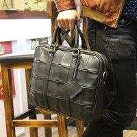 Advanced Genuine Artificial Leather Men Briefcase 13 Inch Business Laptop Bag Leisure Messenger Bag Handbag Computer