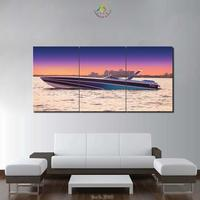 3 Or 5 Pieces Modern Pictures Canvas Poster HD Printed Wall Art Home Decor Sunset Yacht