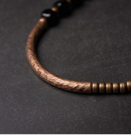 2019-New-Cubic-Black-Obsidian-Multi-row-Bracelet-With-Antique-Finish-Copper-Accessories-Men-Women-Couple-Jewelry-Punk-Street (4)