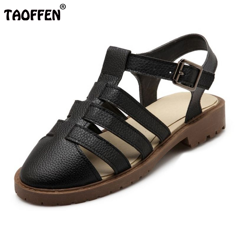 Women's Flats Sandals Summer Fashion Summer Shoes Ladies Sandals Pointed Toe Flat Heel Casual Cut-Outs Shoes size 34-43 PA00383 new 2017 spring summer women shoes pointed toe high quality brand fashion womens flats ladies plus size 41 sweet flock t179