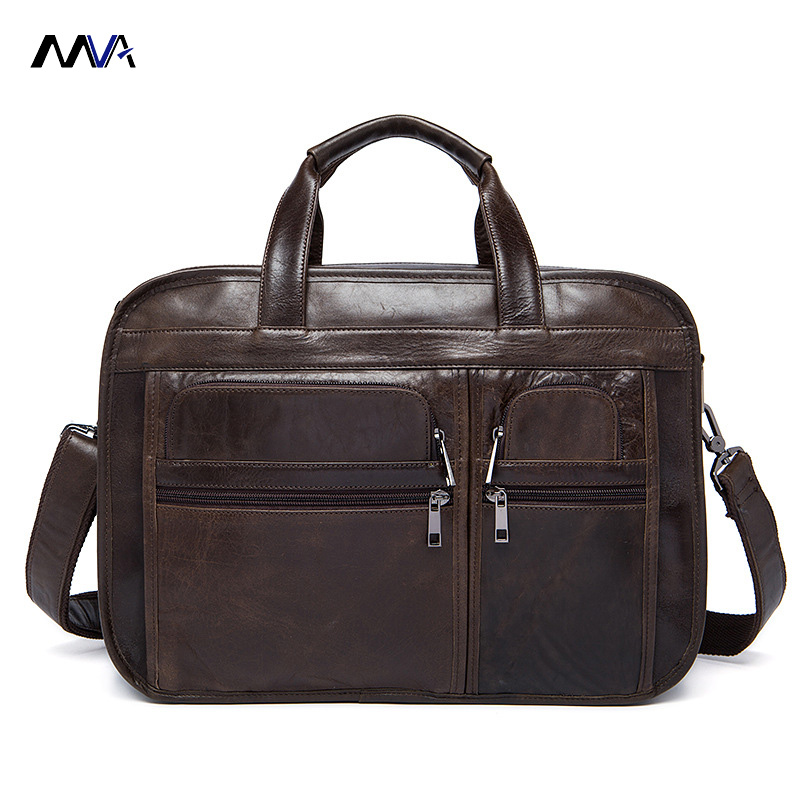 MVA Genuine Leather Men Bags Fashion Man Crossbody Shoulder Handbag Men Messenger Bags Male Briefcase Men's Travel Bag xiyuan genuine leather handbag men messenger bags male briefcase handbags man laptop bags portfolio shoulder crossbody bag brown