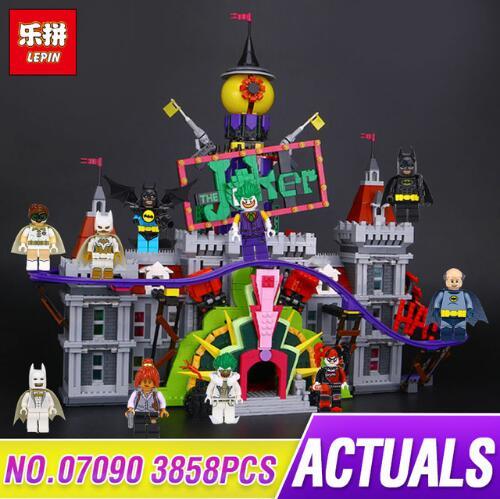 In Stock Lepin 07090 3857 Pieces Super Hero Series The Joker Manor Set LegoING Building Blocks 70922e Bricks for kids Gift