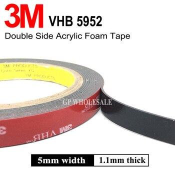 3M VHB 5952 cinta de montaje de alta resistencia negro cinta adhesiva de espuma acrílica de doble cara 5mm x 3M x 1,1mm