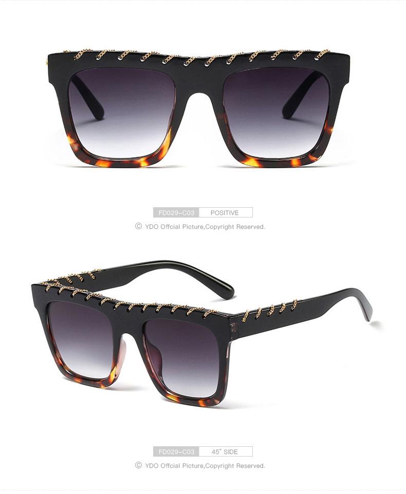 YDO Big Size Sunglasses Women 2019 Square Sunglasses Luxury Brand Vintage Sunglasses  Oversized Sun Glasses Fashion Shades UV400 (9)
