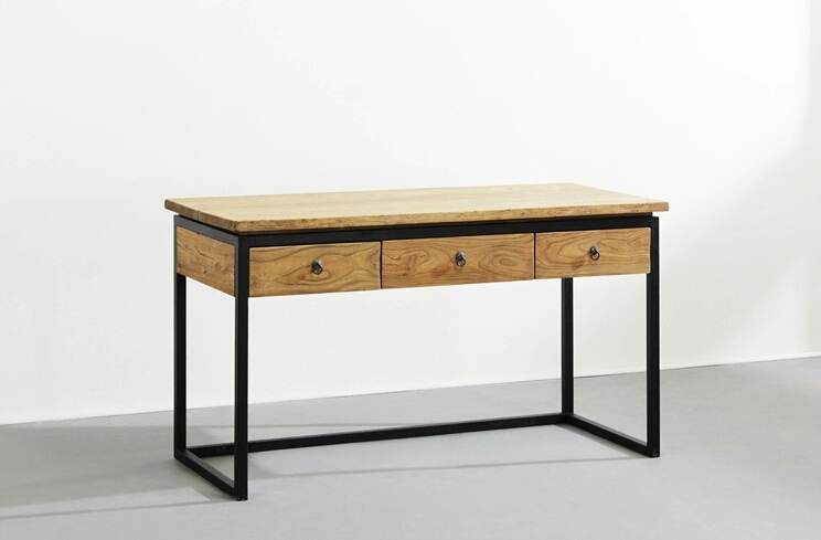 Simple And Modern Wood Desk With Drawers Computer Desk Iron Retro To Do The  Old Wood Desks, Work Tables In Computer Desks From Furniture On  Aliexpress.com ...