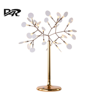 Post Modern Desk Decorative Firefly Lamp Acryl Shade Tree Leaf Art Deco Branch Table Lamps AC