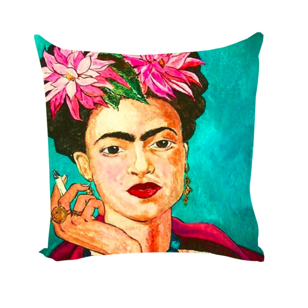 Ben noto Cushion Cover Frida Kahlo Pillow Case Firm Flower Butterfly Throw  TW61