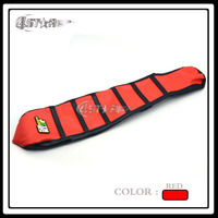 Red Black Stripe Rubber Super Motor Parts Motorcycle Gripper Soft Grip Seat Cover Fit CRF CRF150R
