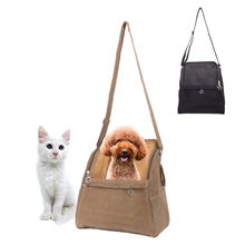 Portable travel dog carrier bag simple style brown Breathable for small dogs brand high-quality luxury carriers