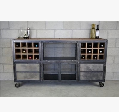 Iron Sideboard TV Cabinet Lockers Retro Furniture Factory Custom Loft Bar  Industry To Do The Old