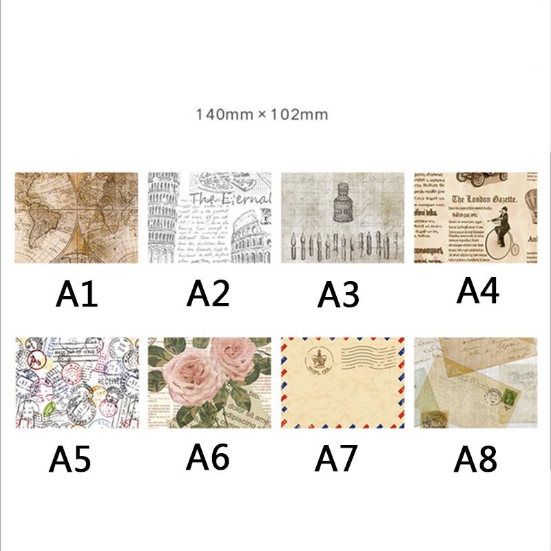 3 Teilelos Europäischen Speicher Retro Briefkopf Kleine Umschlag