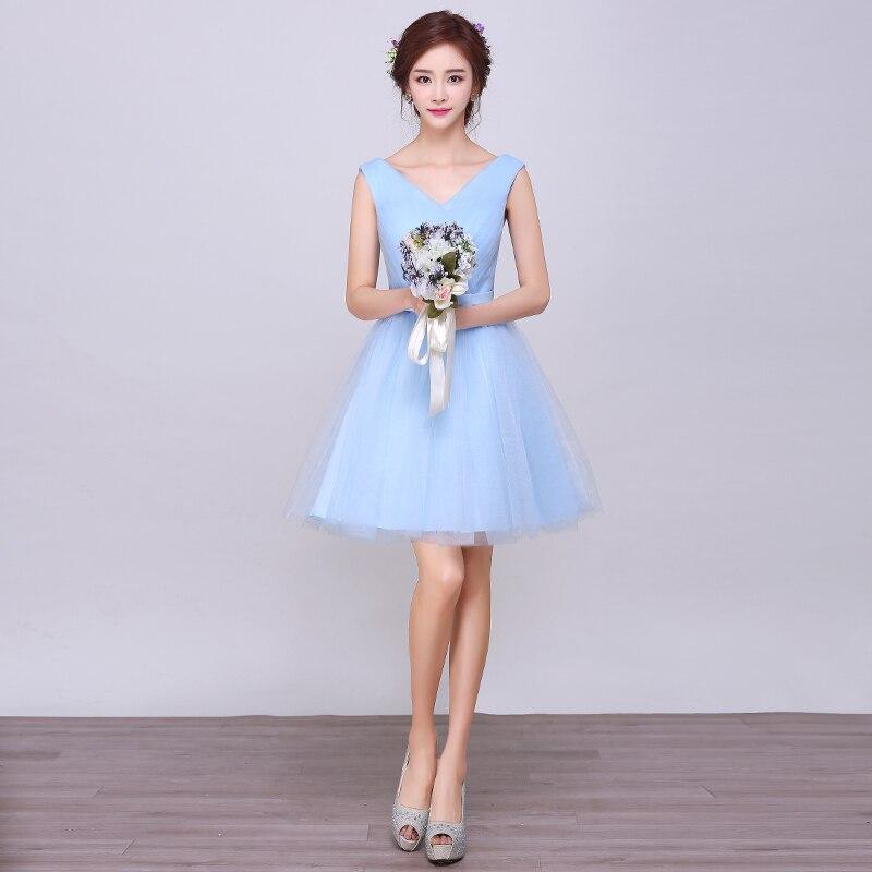 Simple Champagne Short A-line Lace Appliques Tulle Knee Length Cocktail Dresses V Neck Corset Back Girls Short Prom Dresses
