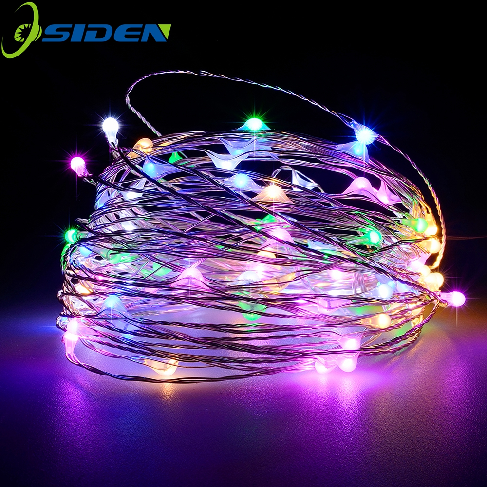 12V String Lights 16.5ft 33ft dengan Wireless Waterproof Flexible Copper Wire Holiday LED Lampu LED Hiasan Luar Dalam