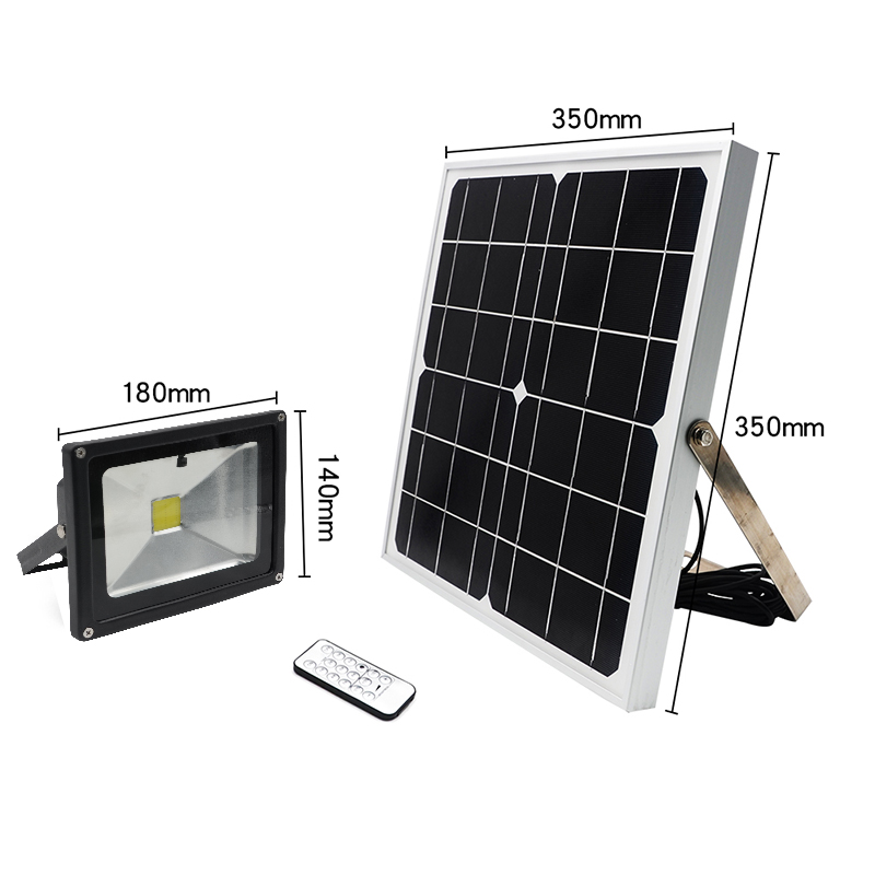 new solar flood lights 20w super bright leds all nights on aluminum material