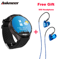 ASKMEER KW88 Android 5.1 Smart Watch Phone MTK6580 CPU smartwatch & Plextone S50 In-Ear Earphone Headset for free gift