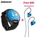 ASKMEER KW88 MTK6580 CPU Android 5.1 Telefone Relógio Inteligente smartwatch & Plextone S50 Fone de ouvido fone de Ouvido para o presente livre