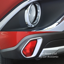 Front Rear Fog Light Lamp Cover Panel Frame Trims For Mitsubishi Outlander 2013-2018 ABS Chrome Stickers Car-Styling Accessories