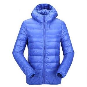 Image 2 - Zogaa bayan sonbahar kış ceket ultra hafif şişme mont kadın rüzgar geçirmez sıcak giysiler Packable uzun kaban artı boyutu kadın Parkas