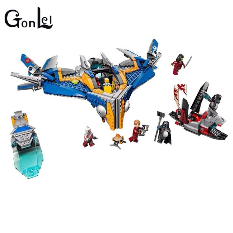(GonLeI)10251 MARVEL GUARDIANS OF THE GALAXY Milano Spaceship Rescue DIY Educational Building Blocks Toys Compatible Bricks the rescue