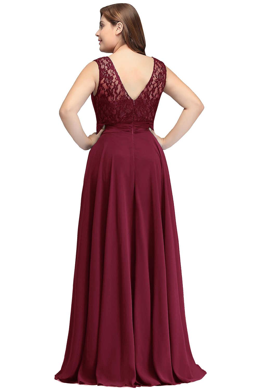 Vestido de noite plus size sem mangas rendas chiffon vestidos de noite longo 2019 baratos vestidos de festa formal vestido