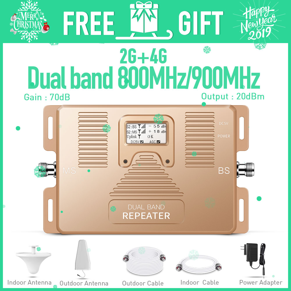 Dual Band 2G 4G LTE 800MHz GSM 900MHz 2g 4g Smart Mobile Signal