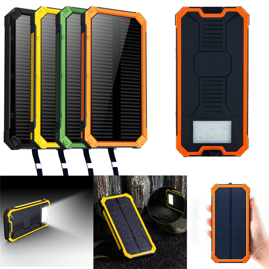 United 10000mah Led Dual Usb Ports Solar Panel Power Bank Case Charger Diy Kits Box For Samsung S8 Xiaomi Usb External Battery Charger Accessories & Parts