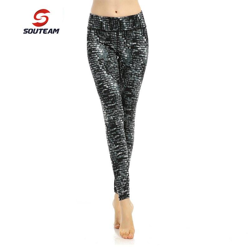 Prix pour SOUTEAM Marque Femmes De Yoga de Remise En Forme confortable Serré leggings 14 Couleurs Haute Qualité Sport Pantalon La élastique Pour Femme # S160012-2