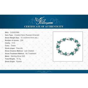 Image 5 - JewelryPalace פרפר צורת 6.8ct נוצר אמרלד טניס צמיד לנשים 925 סטרלינג תכשיטי כסף בסדר תכשיטי מתנה הטובה ביותר
