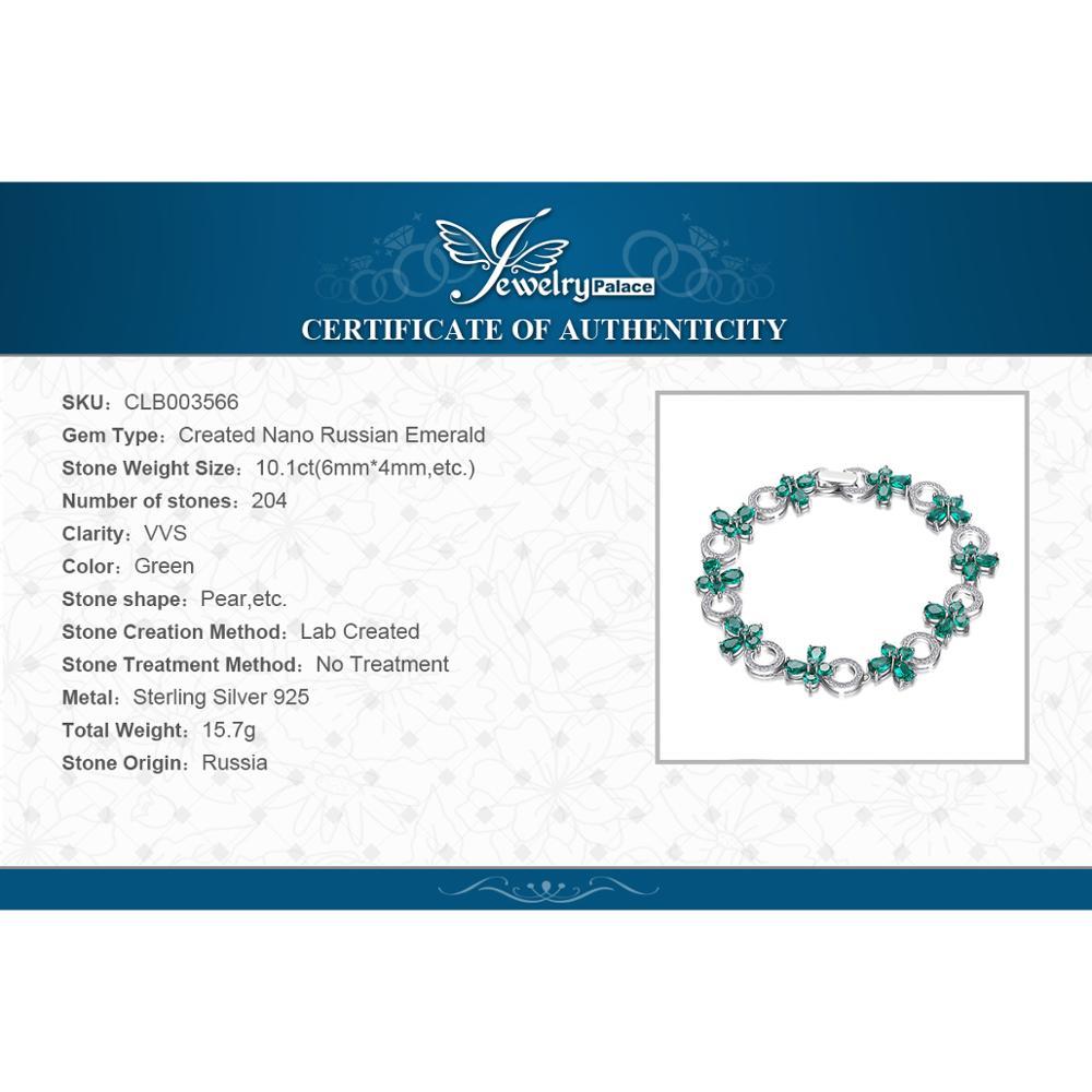 JewelryPalace Butterfly Shape 6.8ct Qadınlar üçün Zümrüd Tennis - Gözəl zərgərlik - Fotoqrafiya 6