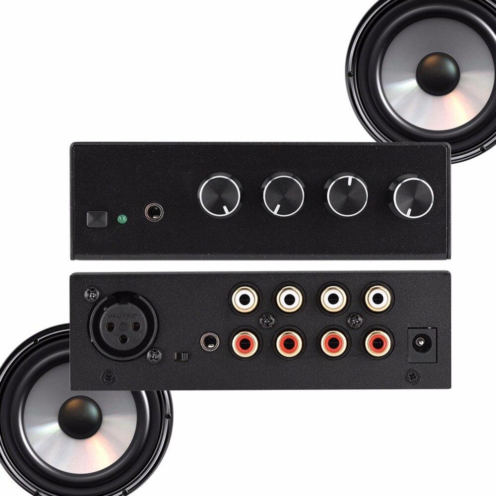 Noise Cancelling Mini Karaoke Mixer 3RCA Input & 1RCA Output Stereo Sound  Mini Dj Mixer-EU Plug ~