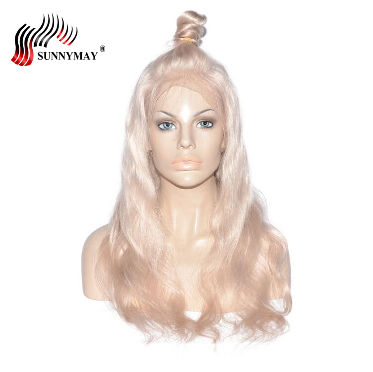 Sunnymay 60 Full Lace Human Hair Wigs Blonde Brazilian Virgin Hair Swiss Transparent Full Lave Wig