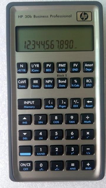 HP 30B financial planning calculator, Business Professional