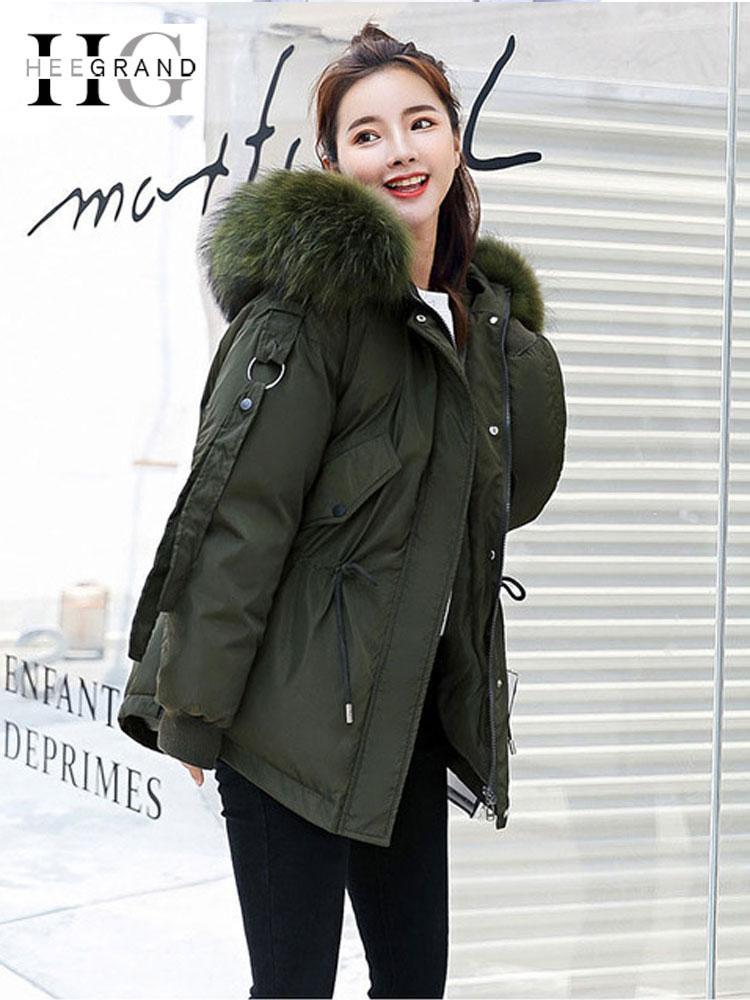 HEE GRAND 2018 Winter Fur Coats for Women Hooded   Parkas   Loose Faux Fur Casual Jackets Warm Thickness Pockets Outwears WWM1688