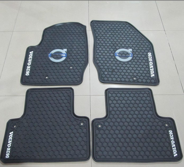 Thick Rubber Car Mats For Volvos40 S60 S80 Xc60 Xc90 Sports Latex Rugs Wateproof Non Slip In