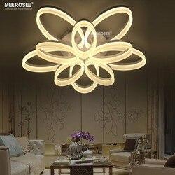 Nowoczesny kwiat kształt LED okrągłe lampy sufitowe sypialnia salon kuchenne białe akrylowe światła spersonalizowane jadalnia sztuki montażu lampy