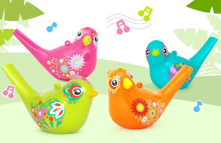 Colorido Desenho Agua Passaro Apito Bathtime Brinquedo Musical