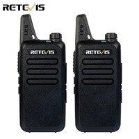 2pcs Mini Walkie Talkie Retevis RT22 2W UHF 400 480MHz 16CH CTCSS DCS TOT VOX Scan