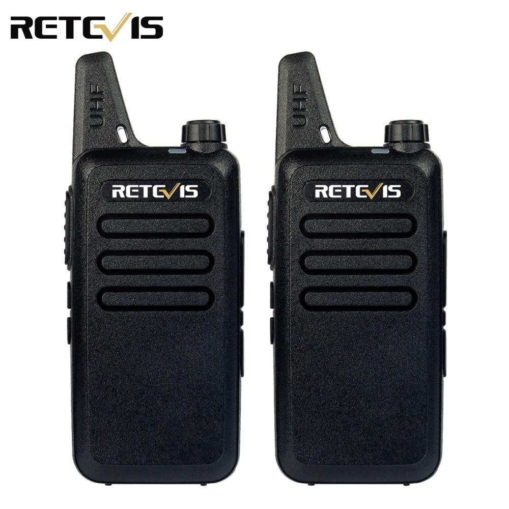 imágenes para 2 unids Mini Walkie Talkie Retevis RT22 2 W UHF 400-480 MHz 16CH CTCSS/DCS TOT VOX exploración de Silenciamiento Radio de Dos Vías Comunicador A9121A